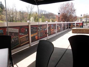 Patio Fence Graphics for Jergel's Rhythm Grille