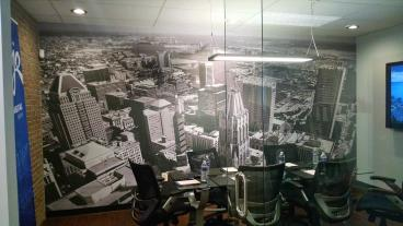 Mojo Office Wall Mural of the Baltimore Skyline