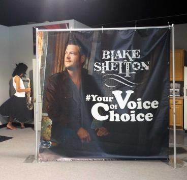 Blake Shelton Step & Repeat Banner Nashville