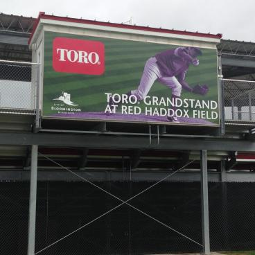 Grandstand Sign at Toro Stadium