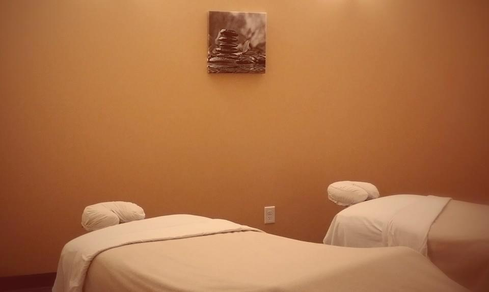 Tranquil treatment rooms (couples room shown)