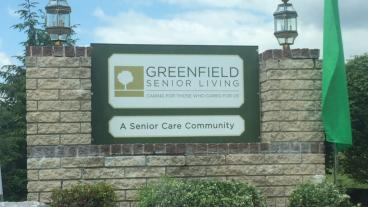 Aluma Core Sign for Greenfield Senior Living in Mechanicsburg, PA
