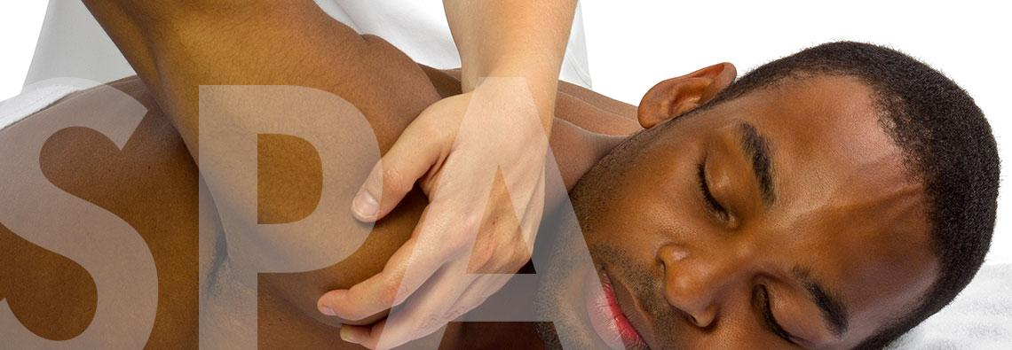 Male client receiving relaxing, therapeutic  massage