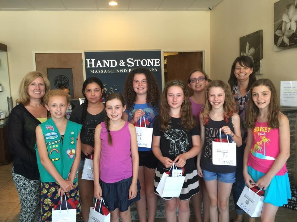 Local Girl Scout Troop Support