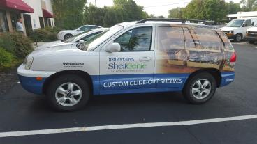 Car Wrap and vehicle lettering for ShelfGenie