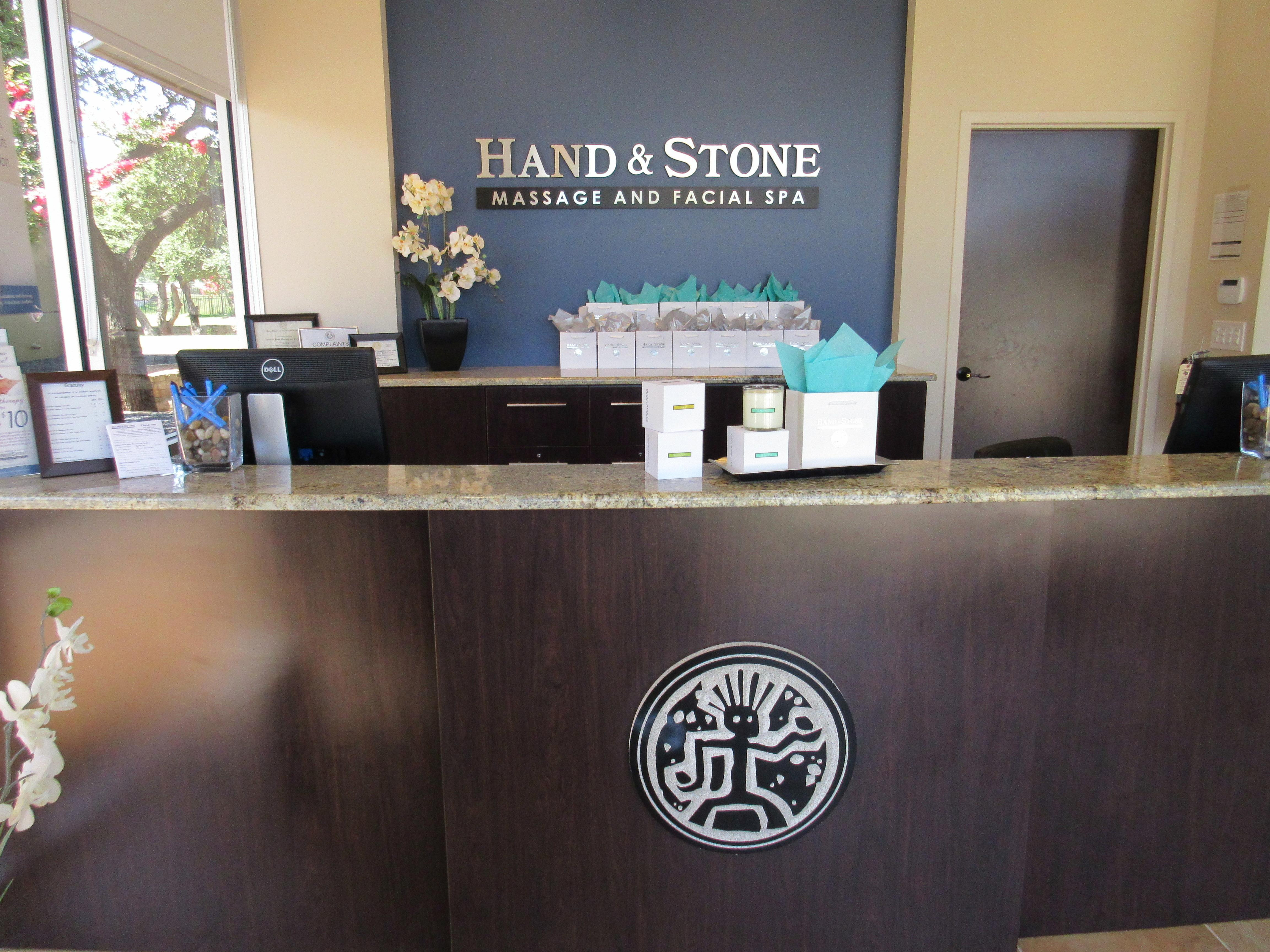 Check in at our Front Desk before your service