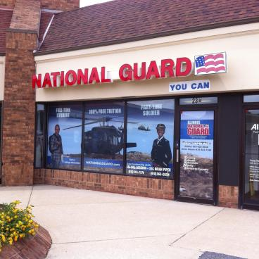 New window graphics for the National Guard