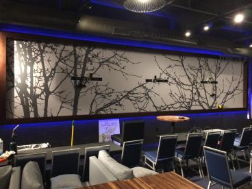 Wall Mural for Top Golf lounge in Centennial Colorado Denver, CO