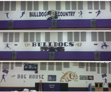 Wall Graphics- Queen Creek High School Gymnasium