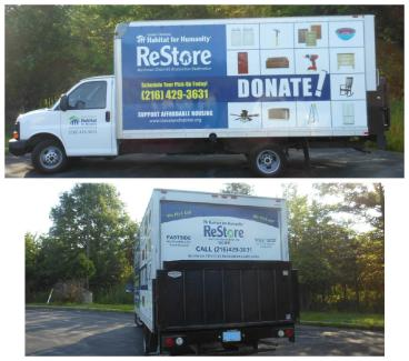 Habitat For Humanity box truck wrap completed by SpeedPro Cleveland West!