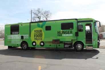 Denver Hunger Free Colorado's RV vehicle wrap Denver, CO