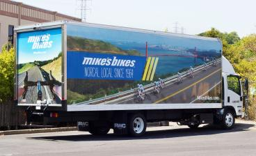 Mike's Bikes Truck Wraps Gets Bigger!