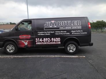 Jim Butler Collision Center Van