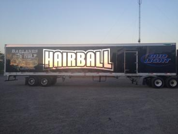 Hairball Semi Trailer Wrap - Minneapolis, MN