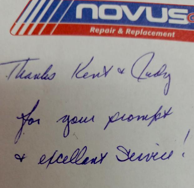 A note received from a satisfied customer