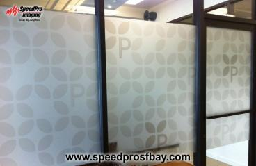 Printed image on frosted window vinyl