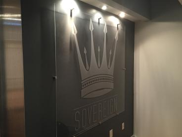 Acrylic Frosted Vinyl Sign Illuminating the Office