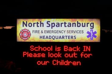 North Spartanburg Fire & Emergency Services sign