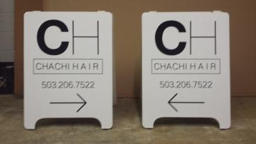 Chachi Hair Salon A-Frames