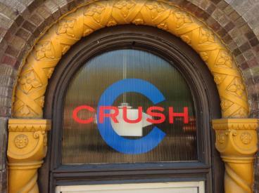 Crush Bar Window Graphic Advertisement