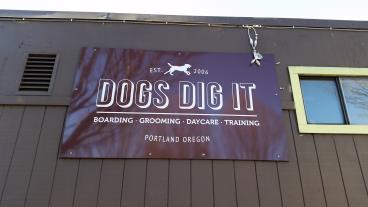 Dogs Dig It Exterior Wall Banner