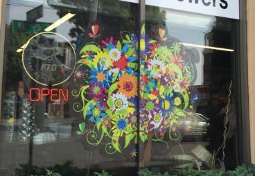 Jackson's Flowers Window Graphics
