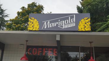 Marigold Coffee Storefront Signage