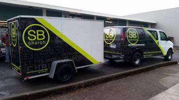 South Beach Church Vehicle Wrap - Trailer Wrap