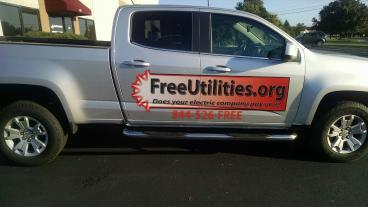 Vehicle decal for Free Utilities