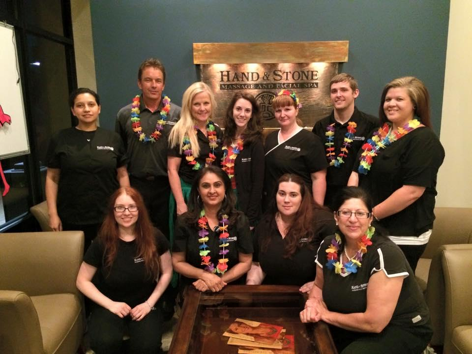 Our amazing staff at our Spa Luau Party