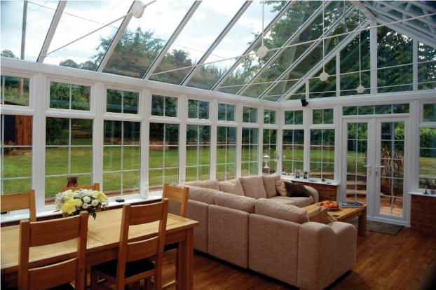 Glass Ceiling Cathedral Sunroom