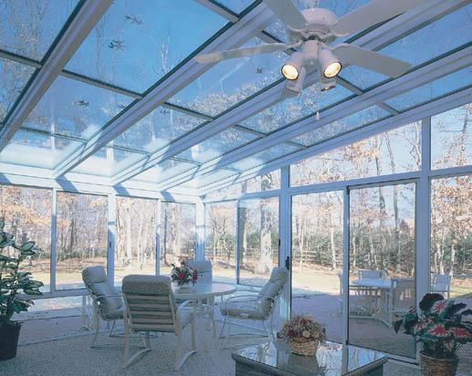 Glass Ceiling Straight Eave Sunroom
