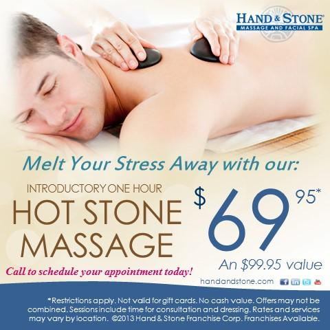 Hot Stone Massage is our signature service! Feels great!