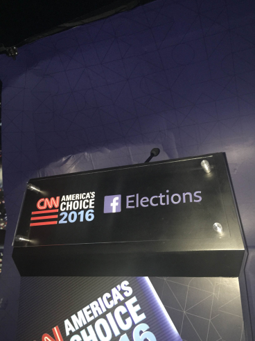 The graphics we installed behind CNN's #campaigncamper
