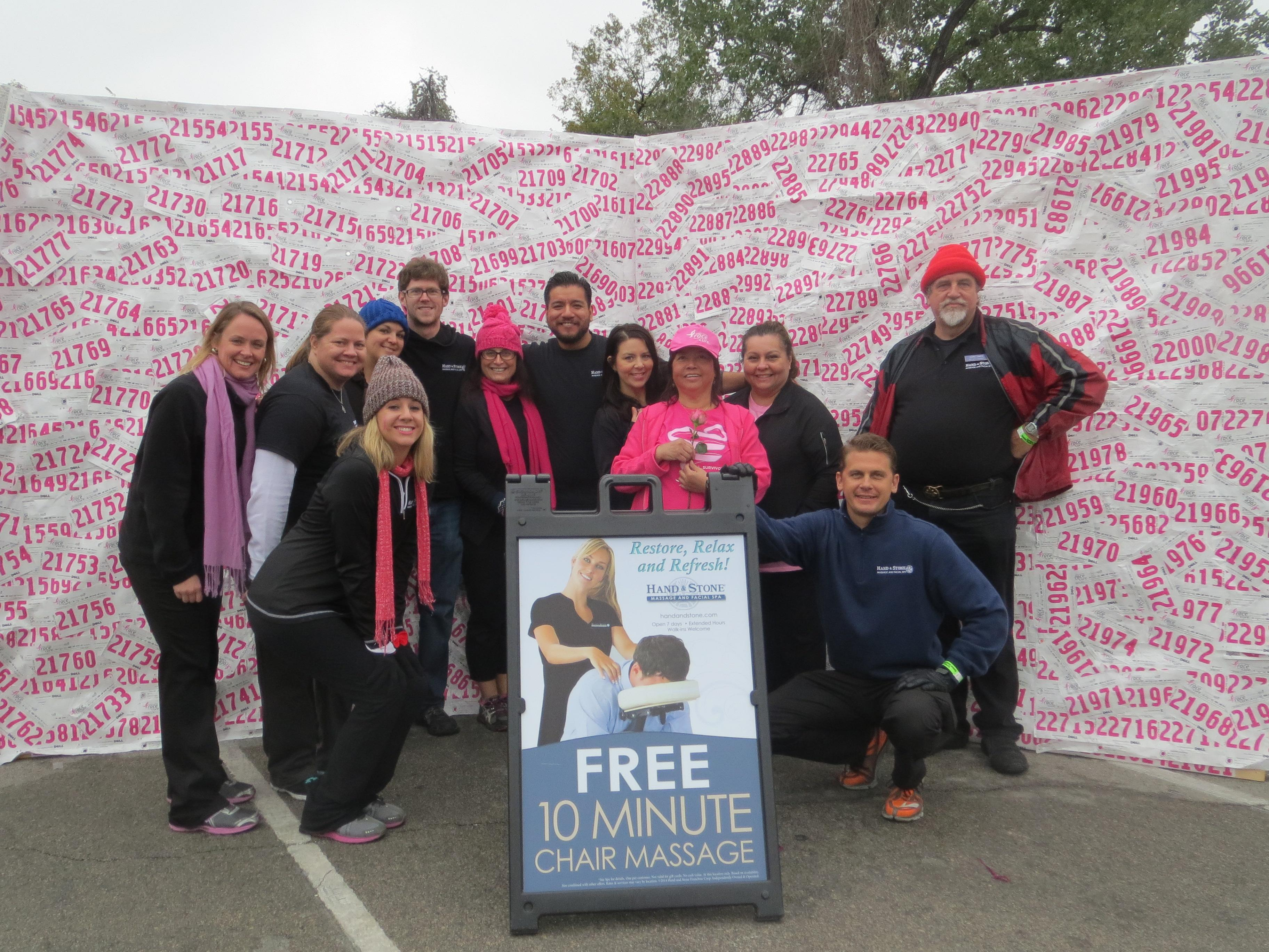 Hand & Stone team at Komen, Austin Race for the Cure event