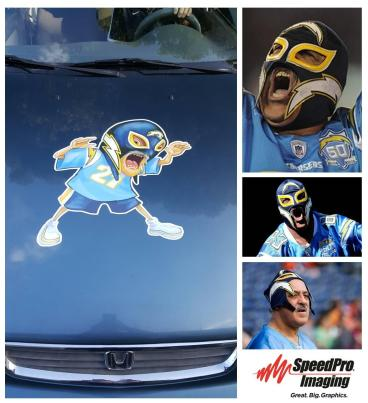 Custom car decal for Chargers superfan,
