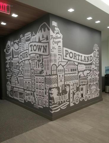Mark Atherton Design - Consolidated Community Credit Union Wall Graphic