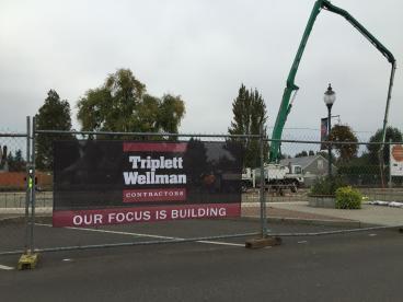 Mesh Fench Banner for Triplett Wellman Construction