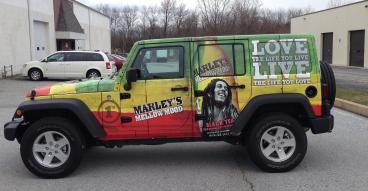 Vehicle Wrap for Marley's Tea in Palm Beach