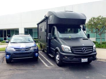 Matte Black Wrap on Mercendes Benz Winnabago RV