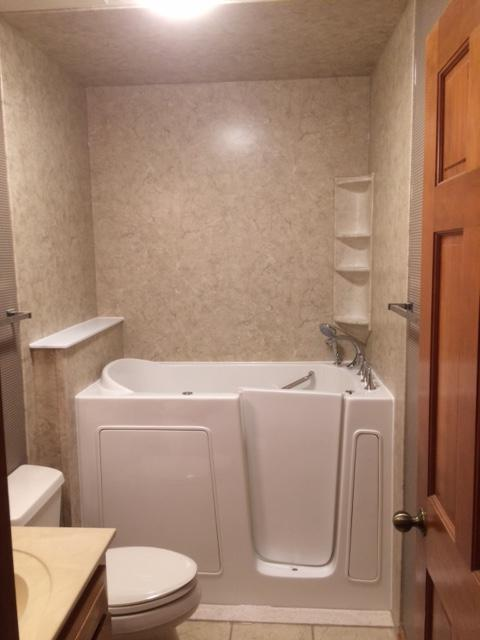 After a completed home bathroom remodel project in the area ...