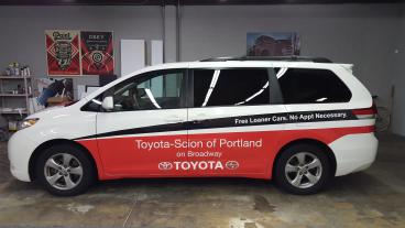 Toyota-Scion of Portland on Broadway Fleet Van Wrap