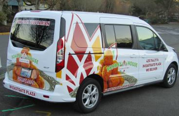 Vehicle Wrap for a Bellevue Restaurant