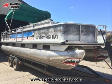 Rebel Coast Winery's pontoon party boat!
