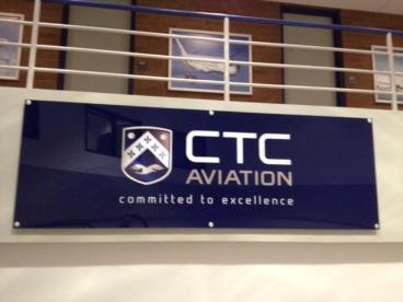 CTC Aviation Lobby Signage Tempe Chandler Arizona