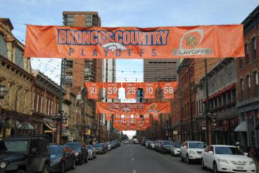 Broncos 2016 Playoff Banners Denver, CO
