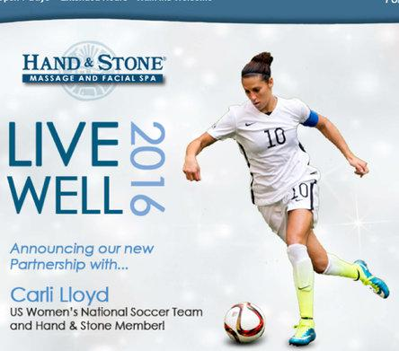 Carli Lloyd Partners with Hand and Stone