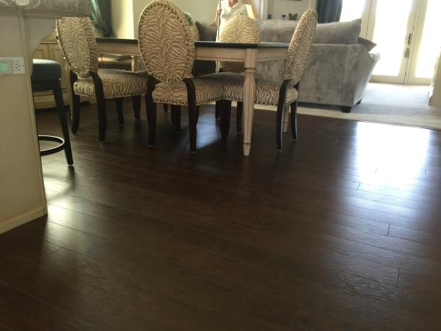 ... A Recent Hard Wood Flooring Job In The Area ...