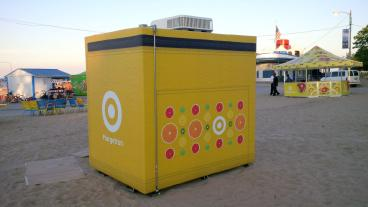 Walk-In Refrigerator Temporary Event Graphics - Client: Target