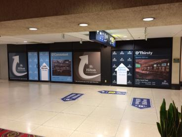 O'Hare Airport - Full Design and Wrap of Windows for Hilton O'Hare